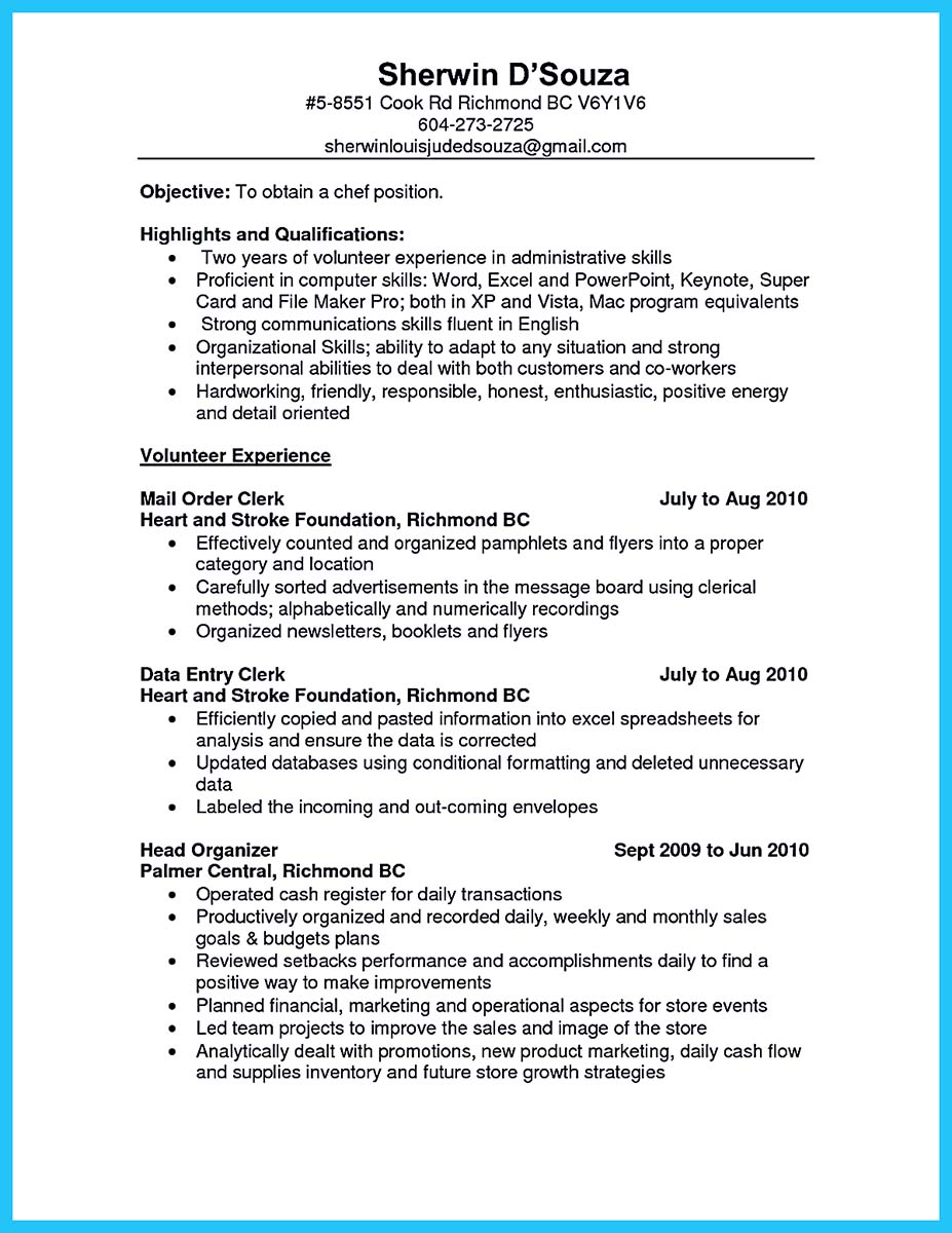 job resume examples of skills