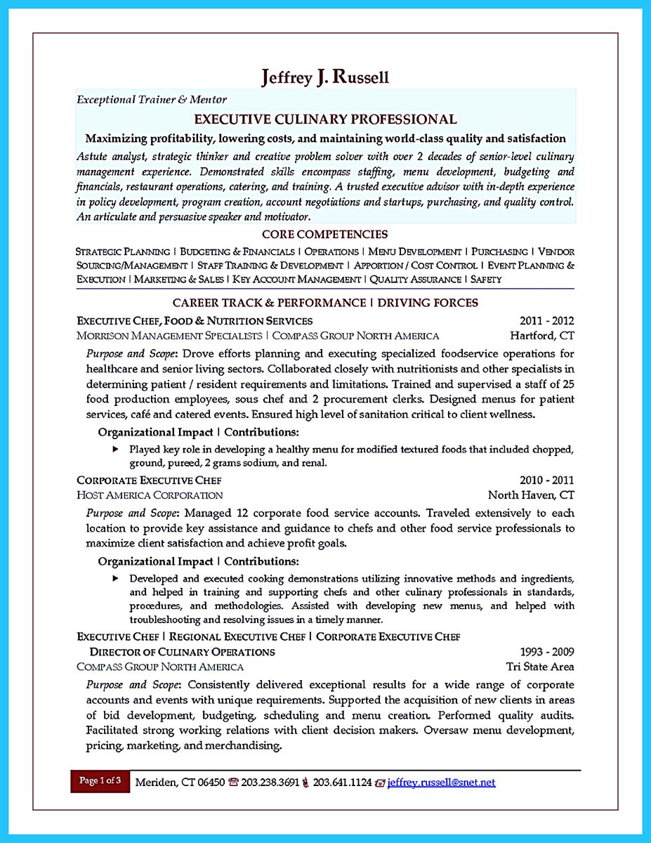 excellent resume template