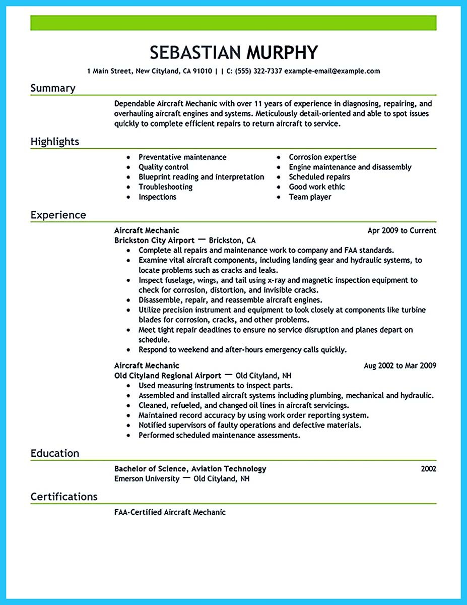 example of objective in resume for maintenance