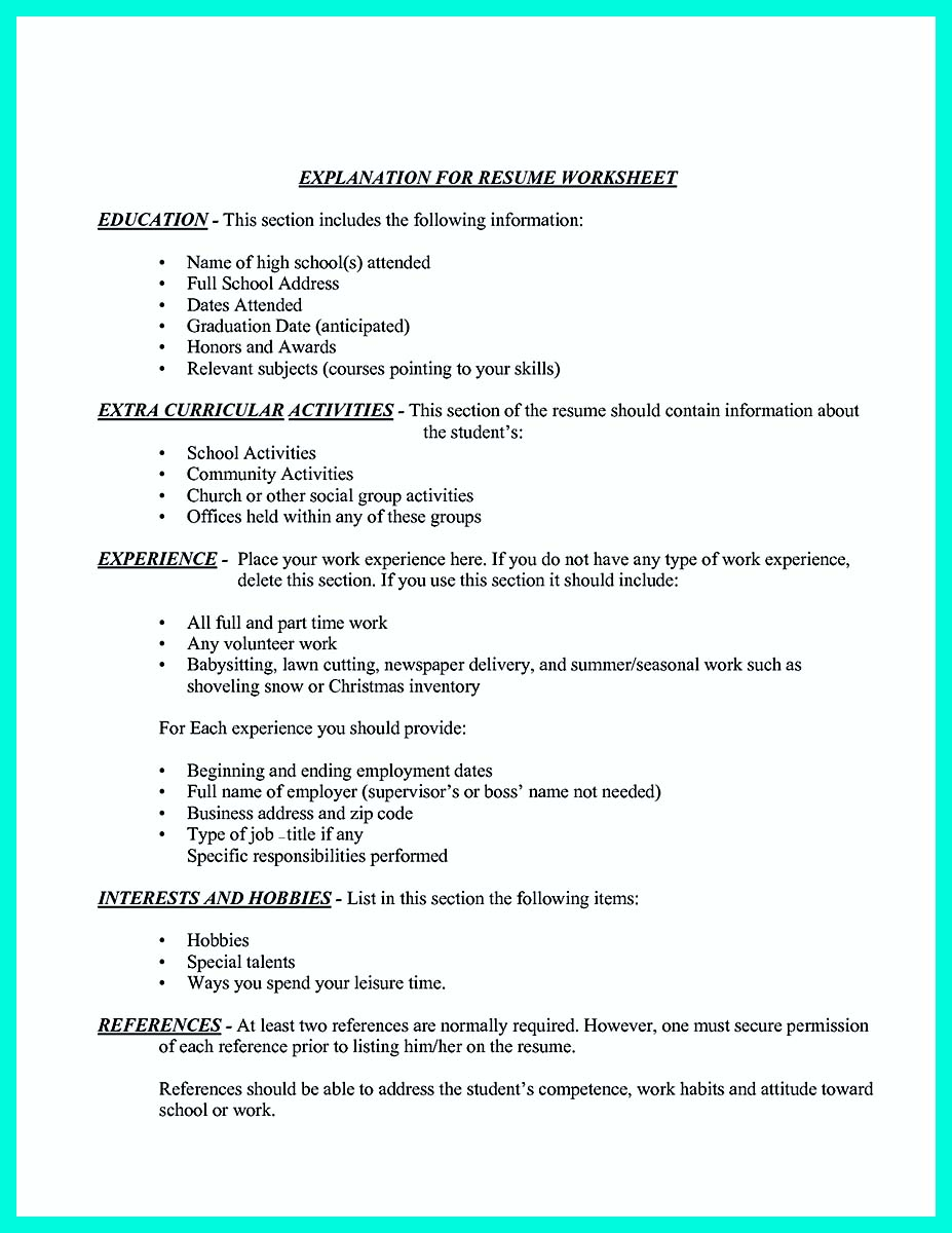 steps to making a resume
