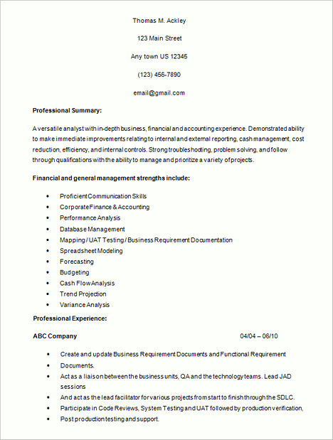 business systems analyst resume sample awesome best secrets about - business analyst resume summary