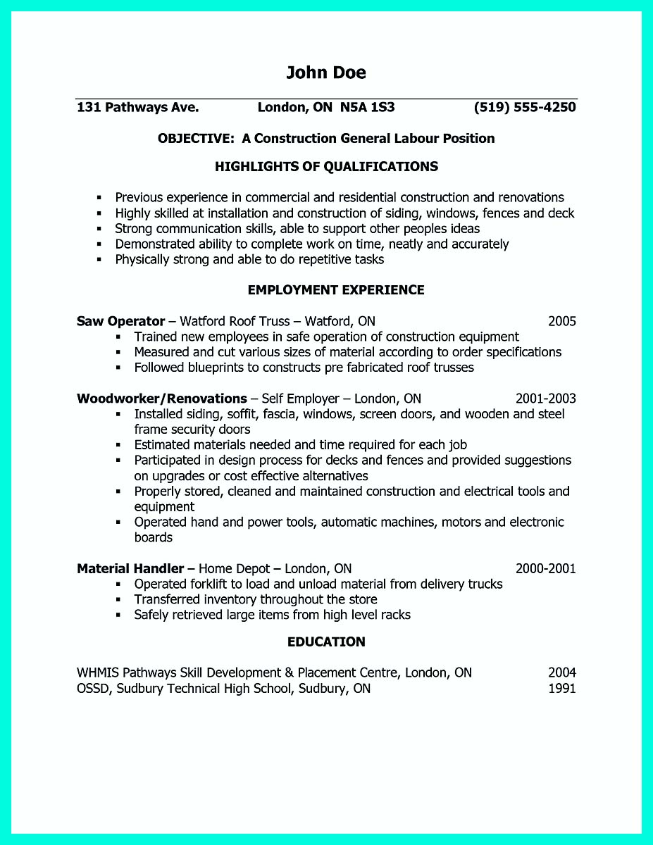 sample resume for construction carpenter  resume maker create  also sample resume for construction carpenter construction worker resume samplethree resume x carpenter construction worker resume