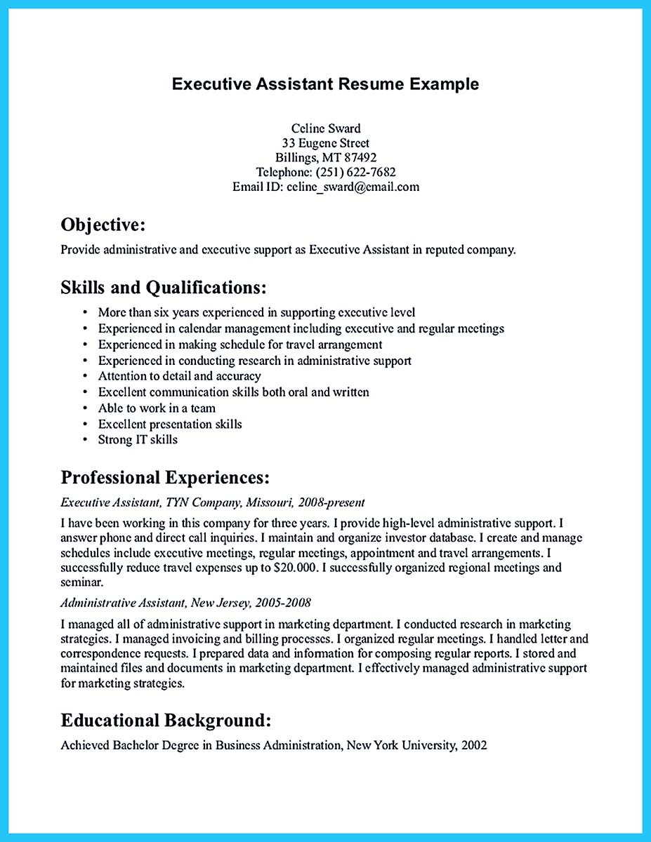 resume objective examples for office assistant