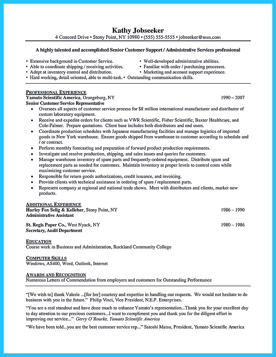 resume sample with qualifications and skills