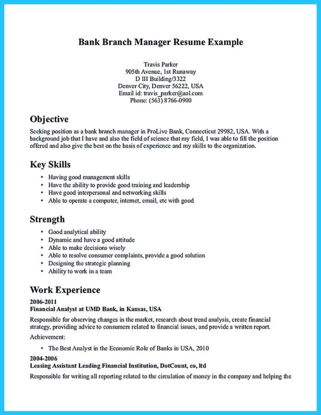 Branch Manager Resume. Administrative Manager Resume Example ...