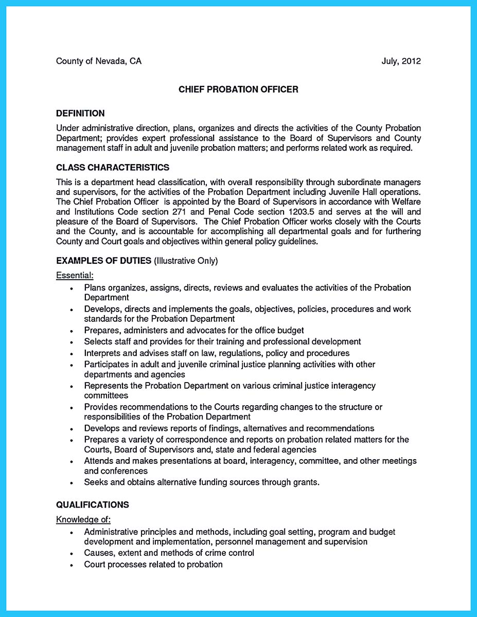 cover letter examples for resume correctional officer
