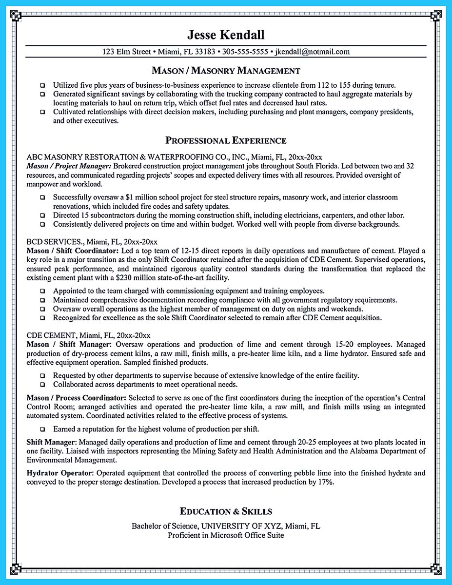 sample of a great resume cover letter