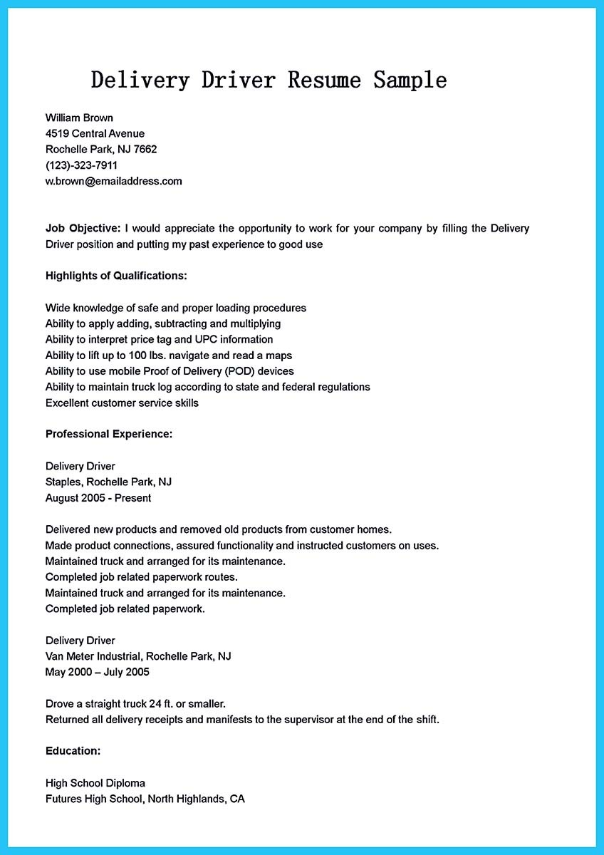 bus driver example resume
