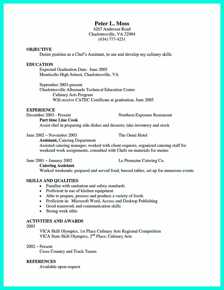 sous chef chef resume sample chef resume australia 324x420 sous chef