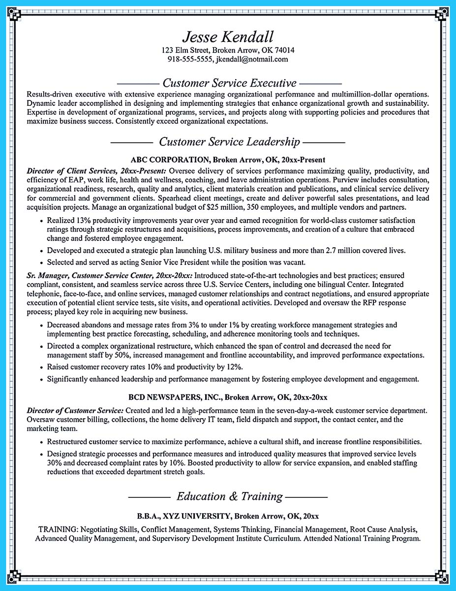 skills examples for resume customer service