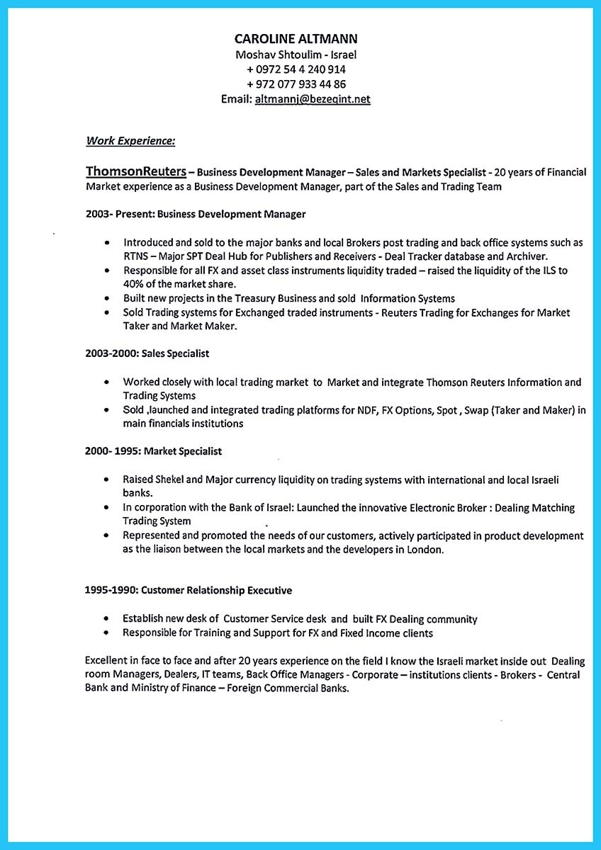 sample resume of business development manager in india
