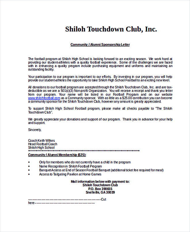 14+ Sponsorship Letter Template How To Write A Resume In - athlete sponsorship proposal template