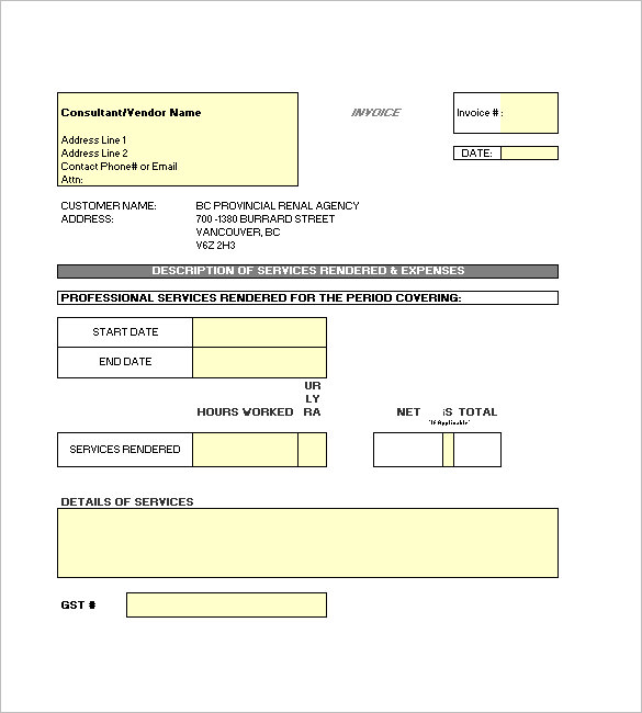 Independent Contractor Invoice Template for Your Best Work - independent contractor invoice