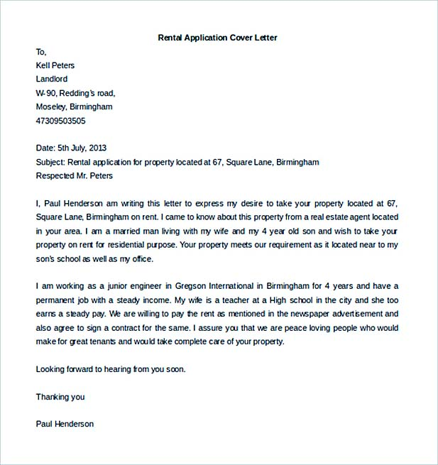 Job Cover Letter to Secure a Job - job application cover letter template