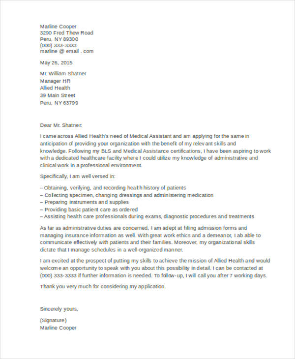 How You Write Medical Assistant Cover Letter with No Experience + Tips