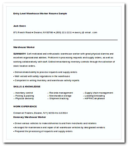 Writing Warehouse Worker Cover Letter for Your Job Application Resume - warehouse cover letter