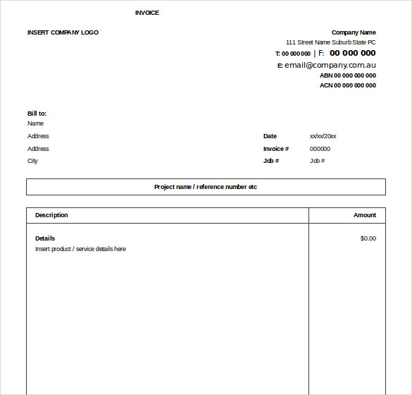 Microsoft Excel Invoice Template Free Professional and Easy to Use