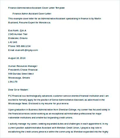 34+ Administrative Assistant Cover Letter Template - administrative assistant cover letter template