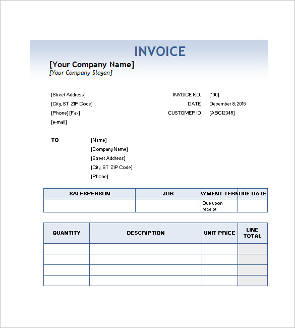 Invoice for Services Template and Free Download to Use