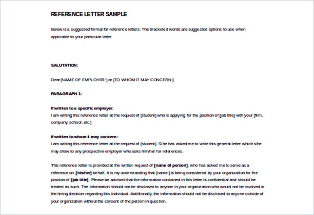 Reference Letter Template Details You Should Include When Writing One - free sample reference letter for employment