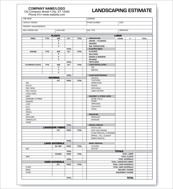 Landscaping Invoice Template What to Include in the General Format - landscaping invoice template