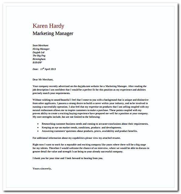 What Does a Cover Letter Look Like for Ideas to Write