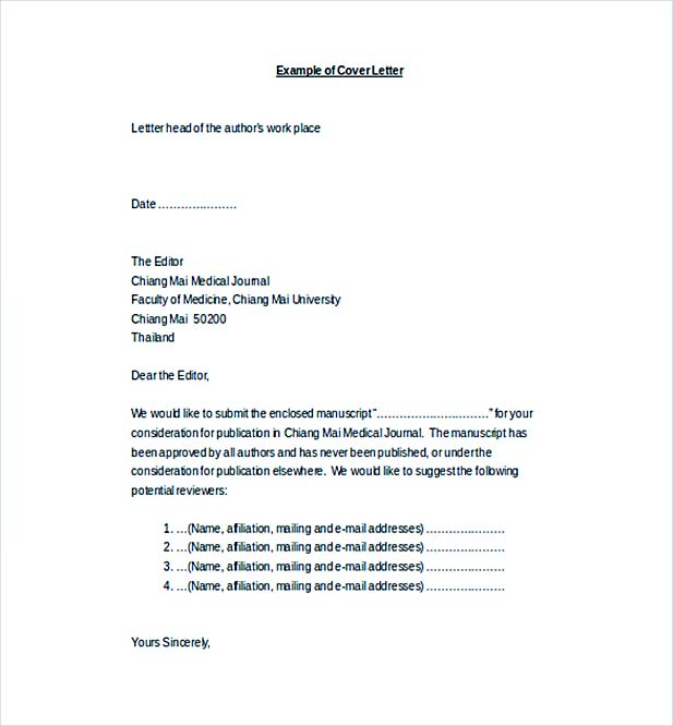 13+ Cover Letter for Internship Template - Cover Letter Word Templates