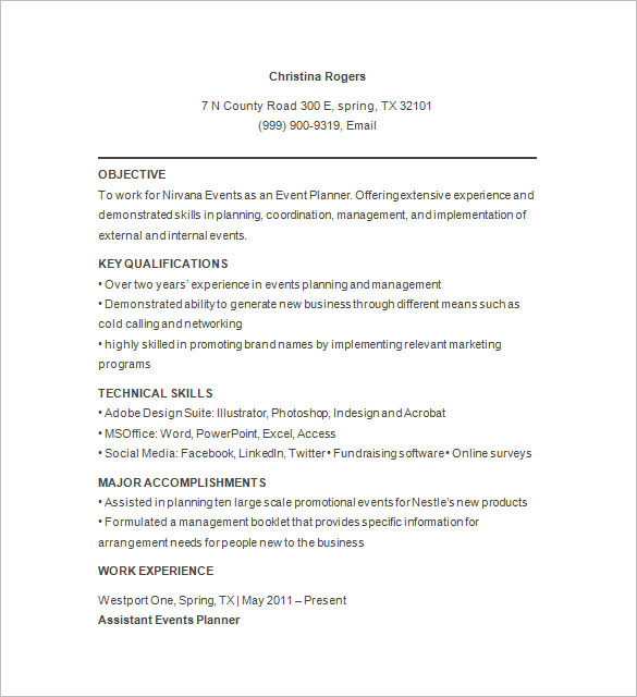 A Guideline to Design a Professional Event Planner Cover Letter