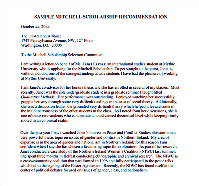 15+ Letter of Recommendation Format Basic Template to Customize - recommendation letter pdf