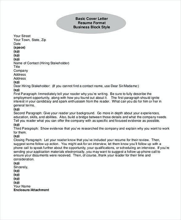 Tips to Make Good Electronic Cover Letter Format - making a good cover letter
