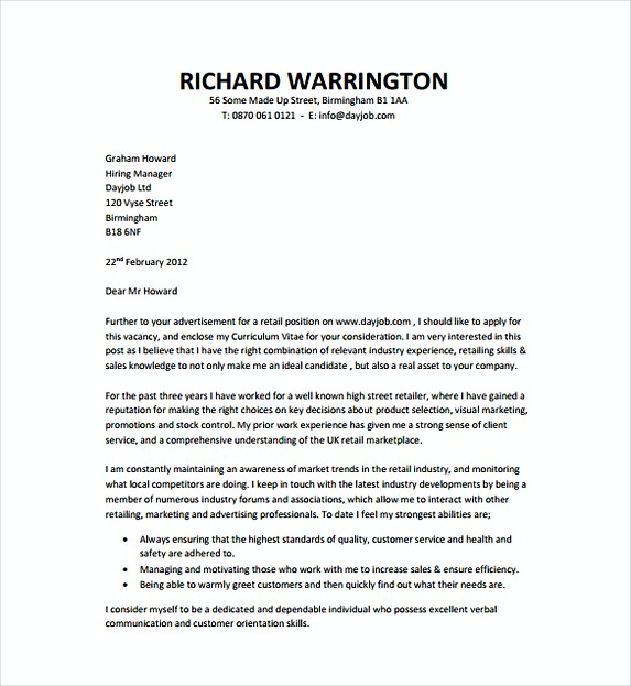 Generic Cover Letter for Resume Brief Guideline in Writing Yours - Generic Cover Letters