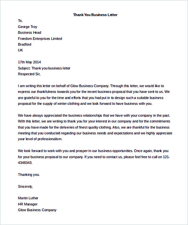 Business Letter Template Block Format | Recommendation Letter