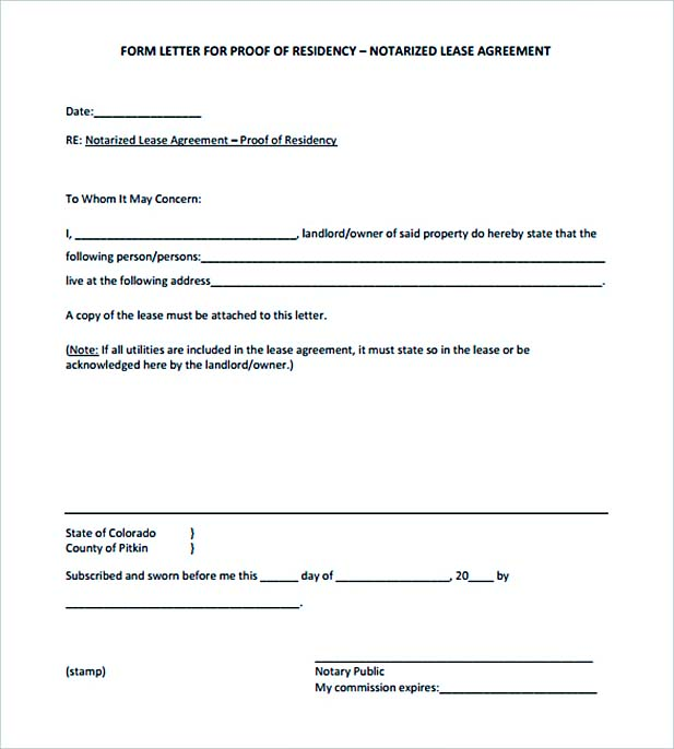 16+ Notarized Letter in Brief