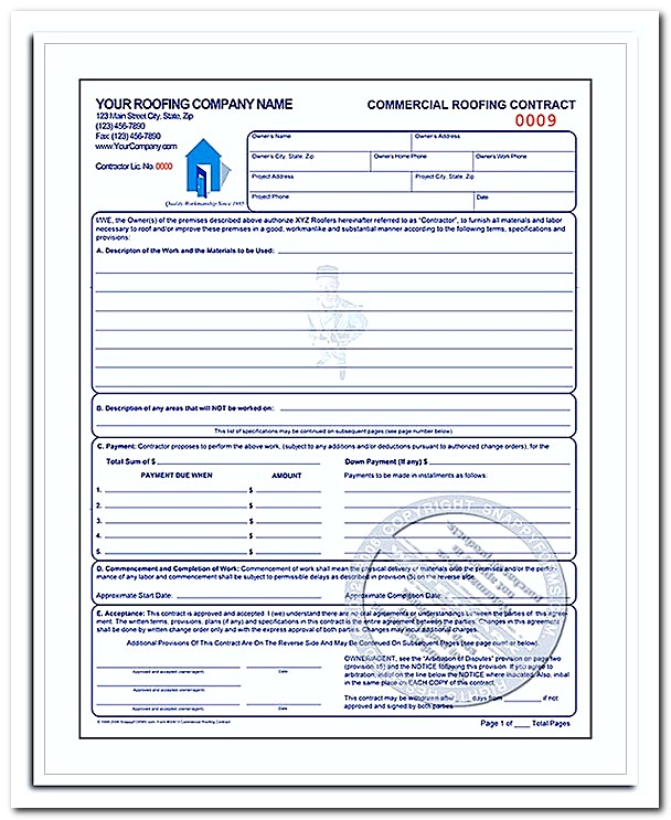 What to Be Included in Roofing Invoice Template with Example - roofing contract template