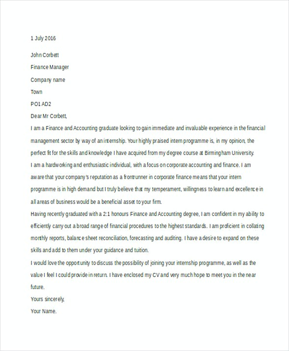 cover letter finance manager