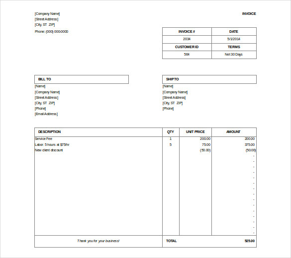 Billing Invoices Invoice Icon In The Flat Style, Isolated From - invoice bill