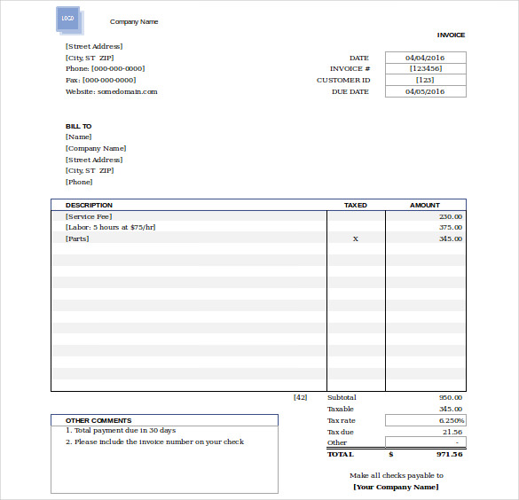 50+ Generic Invoice Template to Ease the Invoice Ideas - Free Invoice Templates To Download