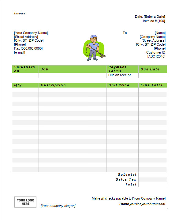 50+ Generic Invoice Template to Ease the Invoice Ideas - invoice templates word