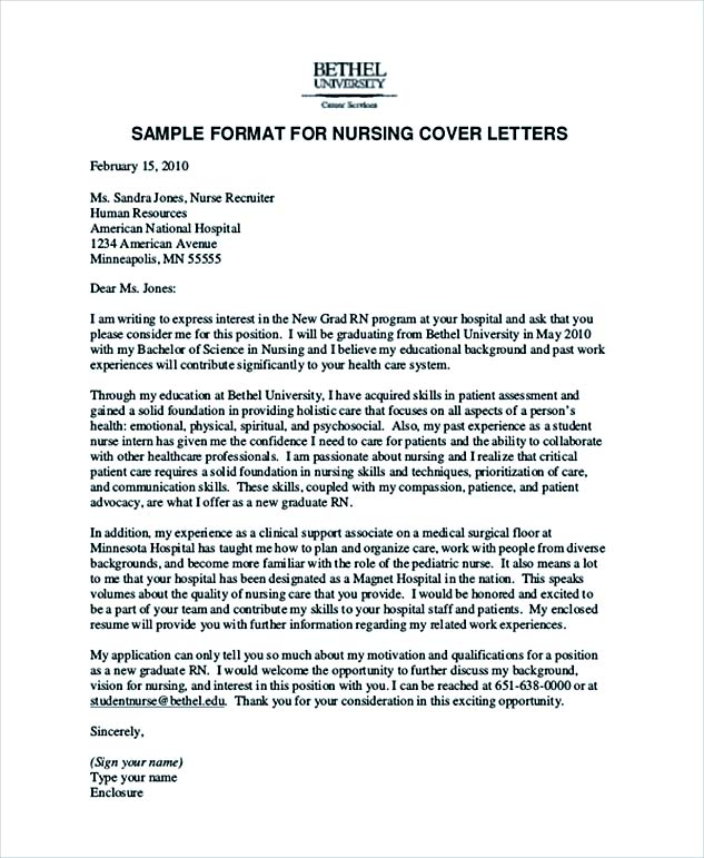 Job Application Letter Nursing Sample | Create professional ...