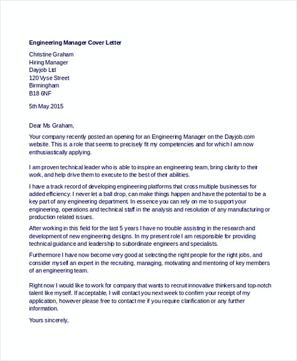 ... Entry Level Engineering Cover Letter Example Common Mistakes \ Tips   Engineering  Supervisor Cover Letter