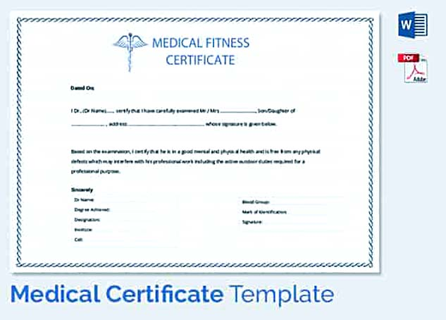 Medical Leave Application for the Further Action - medical certificate for sick leave