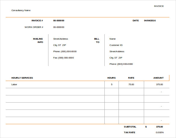 50+ Generic Invoice Template to Ease the Invoice Ideas