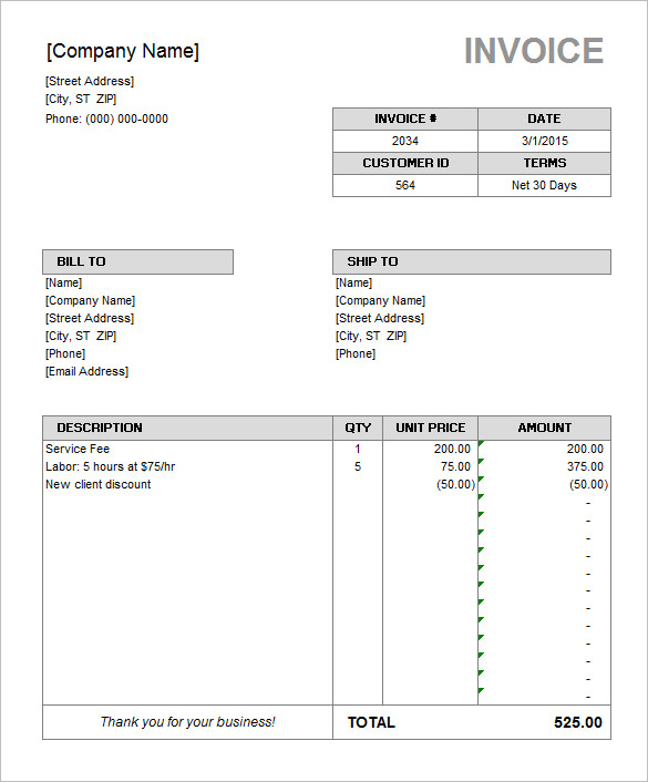 black invoice template - Amitdhull - consulting invoice sample