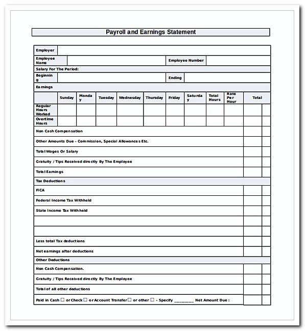 Understanding Your Pay Statement Office Of Human Resources 9 Adp Pay - earning statement template