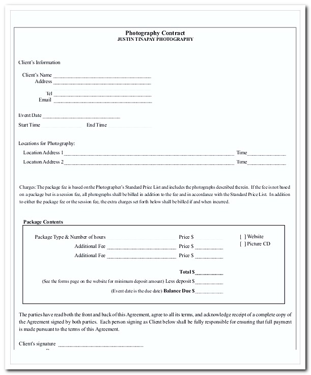 Photography Invoice Template for Professional Photo Services - photography invoice template