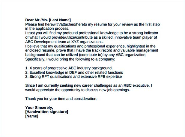 Create a Convincing Professional Cover Letter - resume cover letter pdf