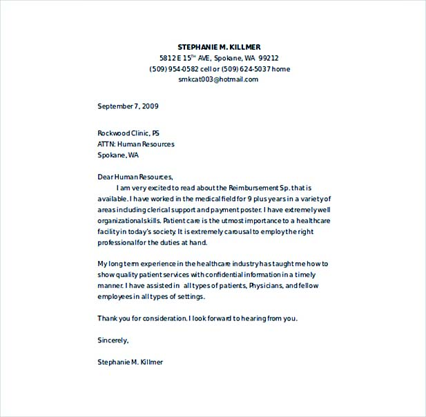 10+ Nursing Cover Letter Sample \u2013 How to Write Perfect Format  Content - Cover Letter Word Templates