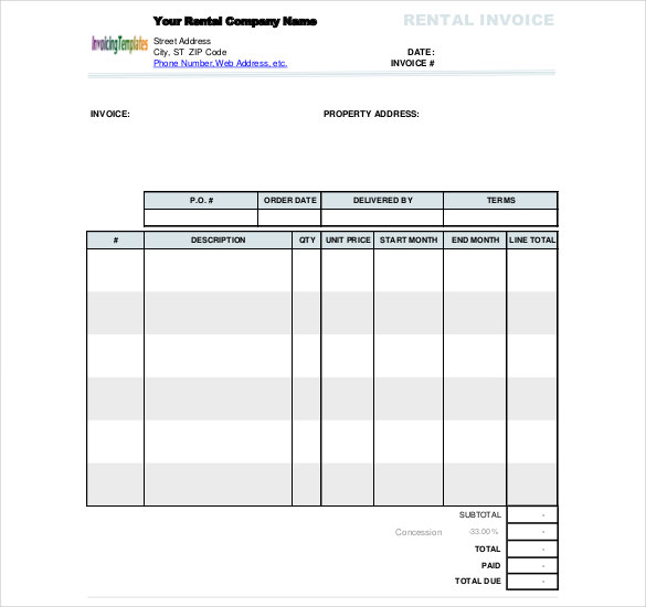 50+ Generic Invoice Template to Ease the Invoice Ideas - how to format an invoice