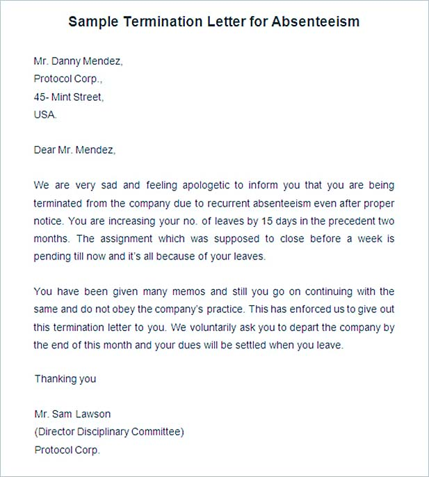 19+ Termination Letter Sample u2013 How It Should Be Written AndSample - examples of termination letters