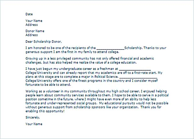Scholarship Thank You Letter for Further Gratitude - scholarships thank you letter